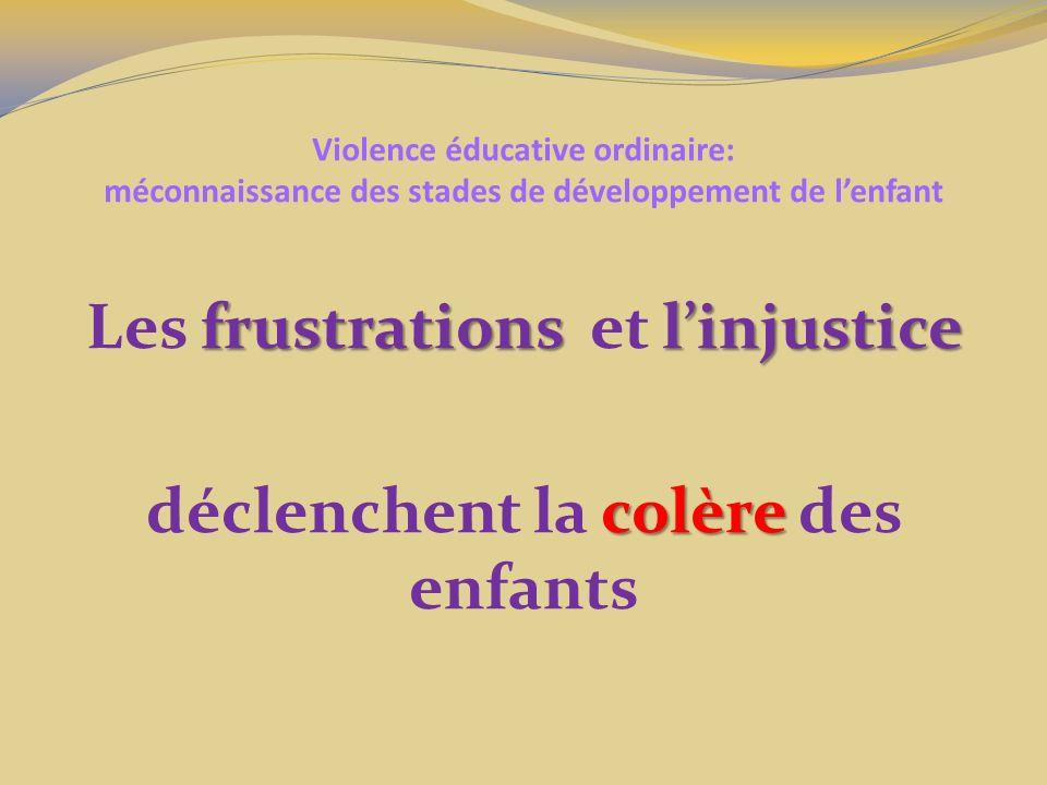 Les frustrations et l'injustice déclenchent la colère des enfants