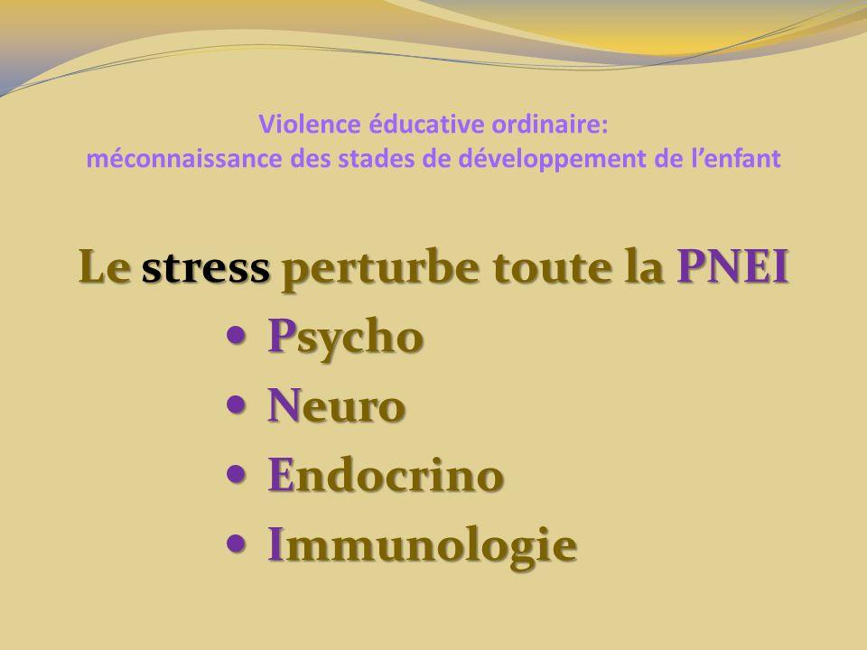 Le stress perturbe toute la PNEI