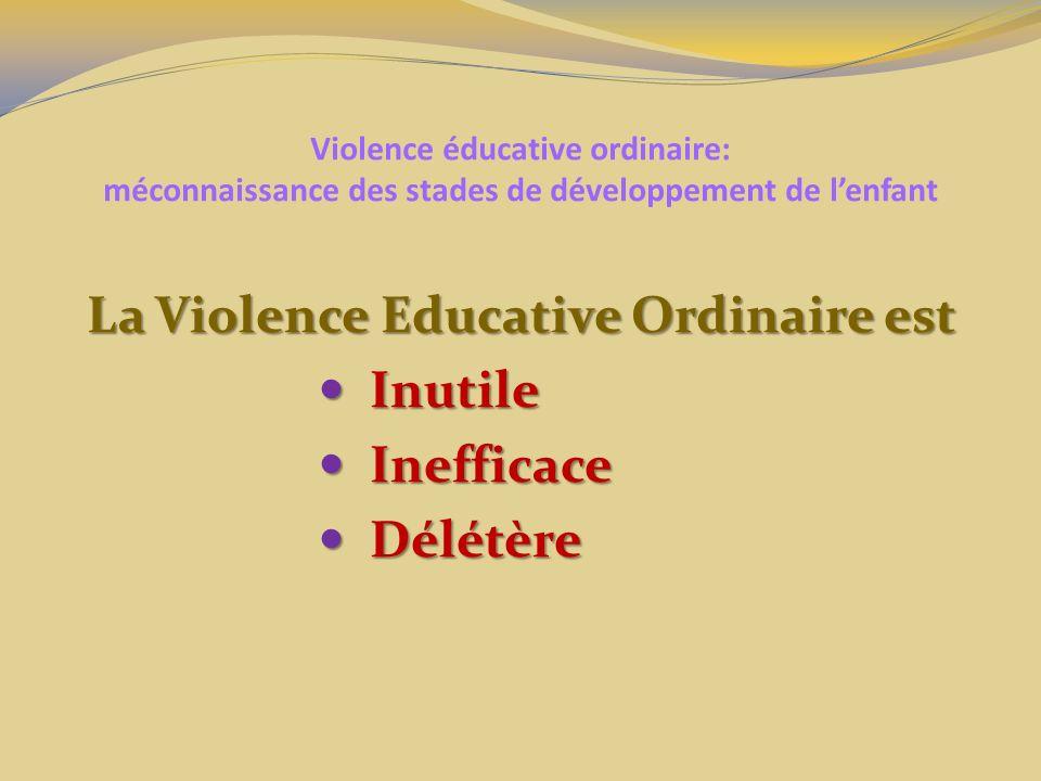 La Violence Educative Ordinaire est