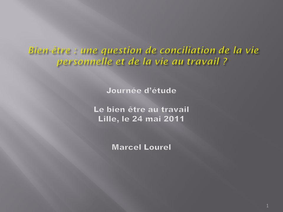 Bien-être : une question de conciliation de la vie personnelle et de la vie au travail .