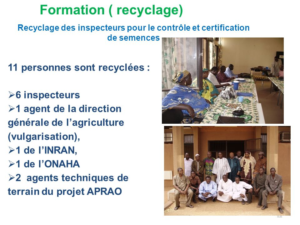 Formation ( recyclage)