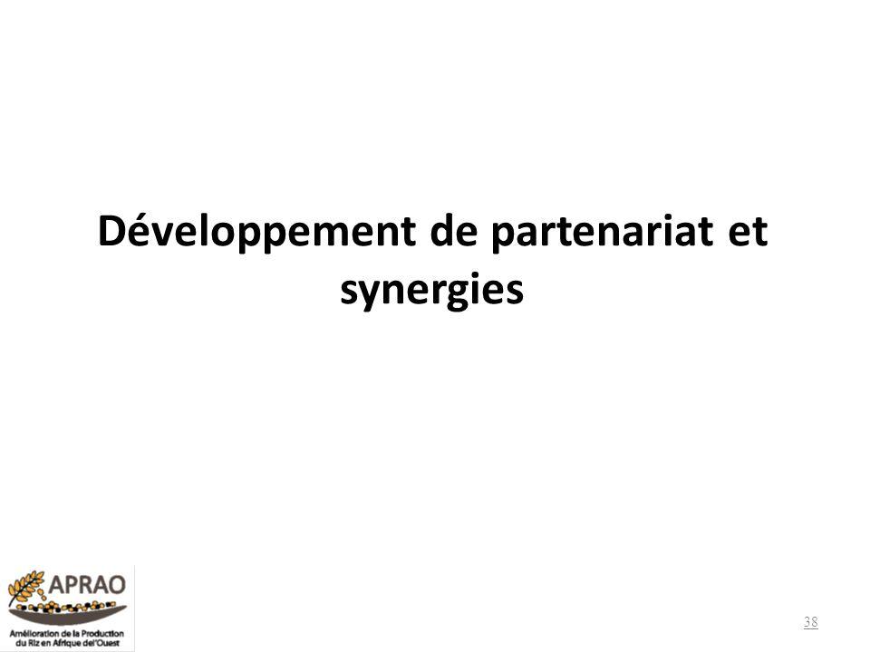 Développement de partenariat et synergies