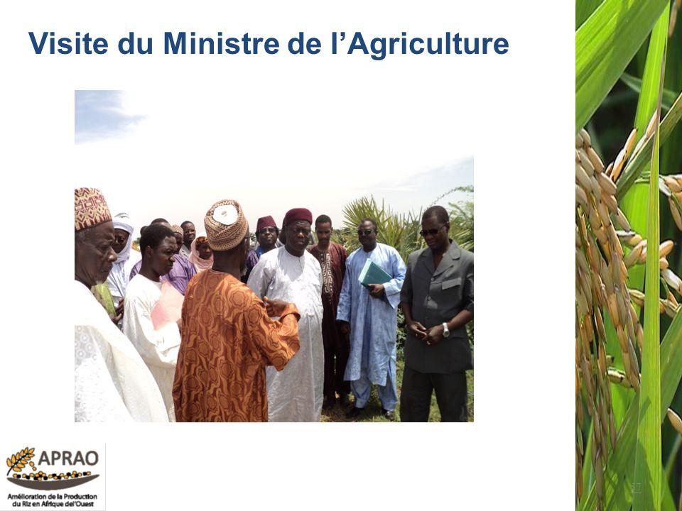 Visite du Ministre de l'Agriculture