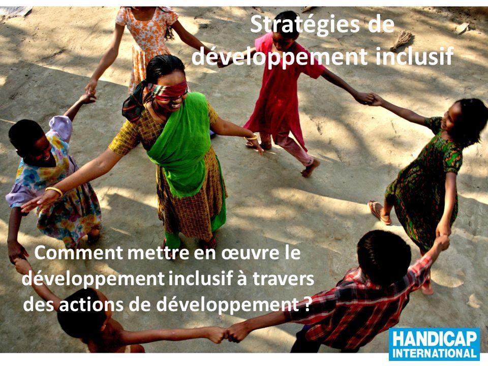 Stratégies de développement inclusif