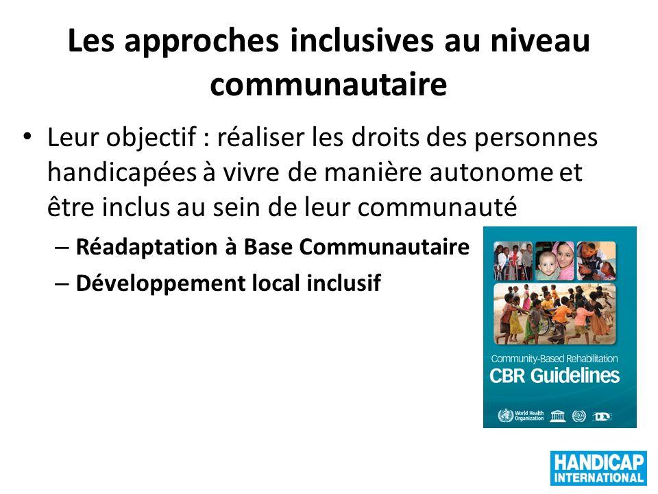 Les approches inclusives au niveau communautaire