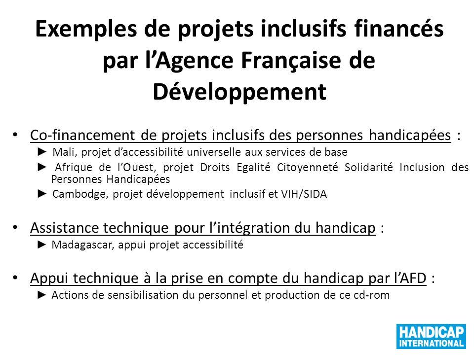 Exemples de projets inclusifs financés par l'Agence Française de Développement