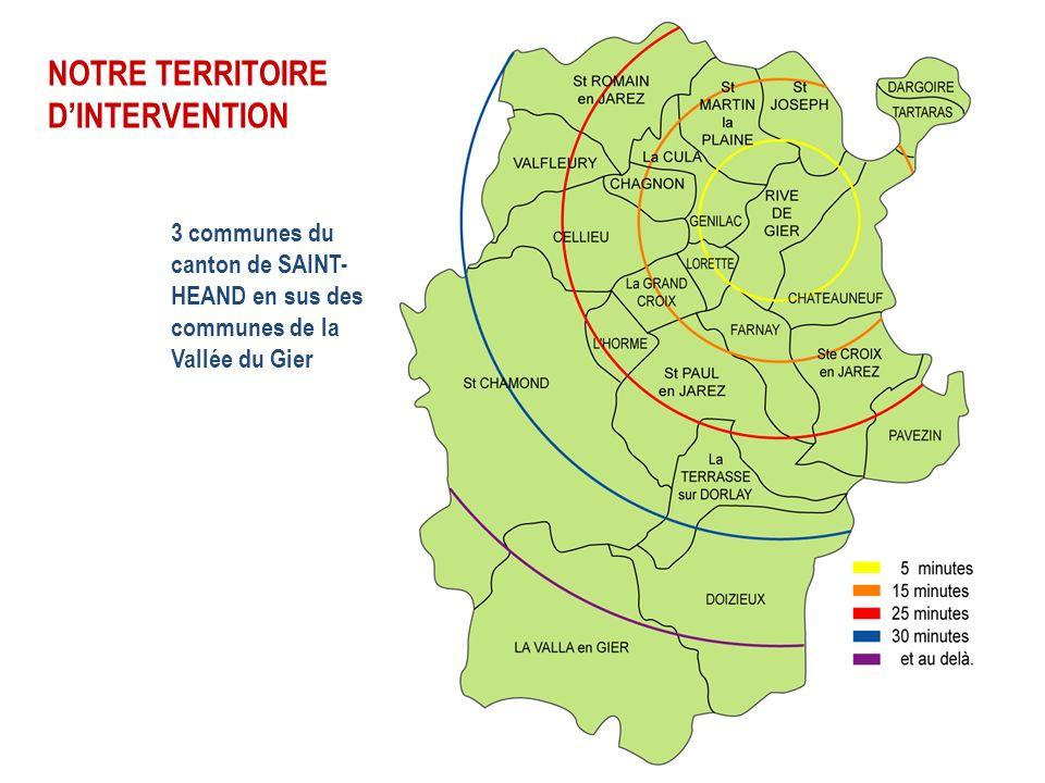 NOTRE TERRITOIRE D'INTERVENTION