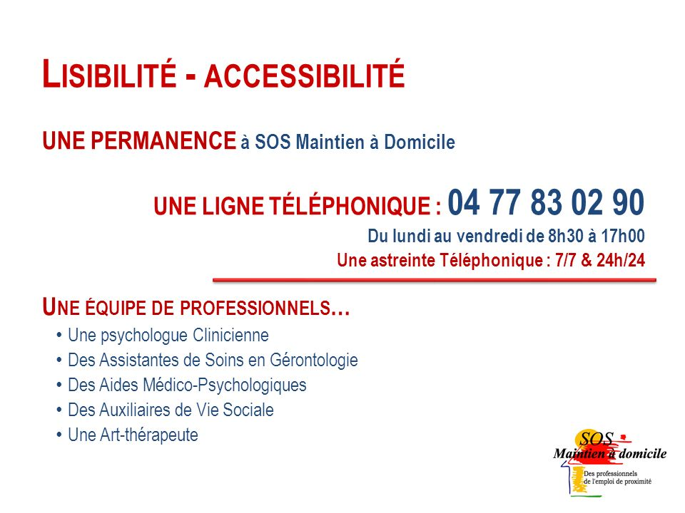 Lisibilité - accessibilité