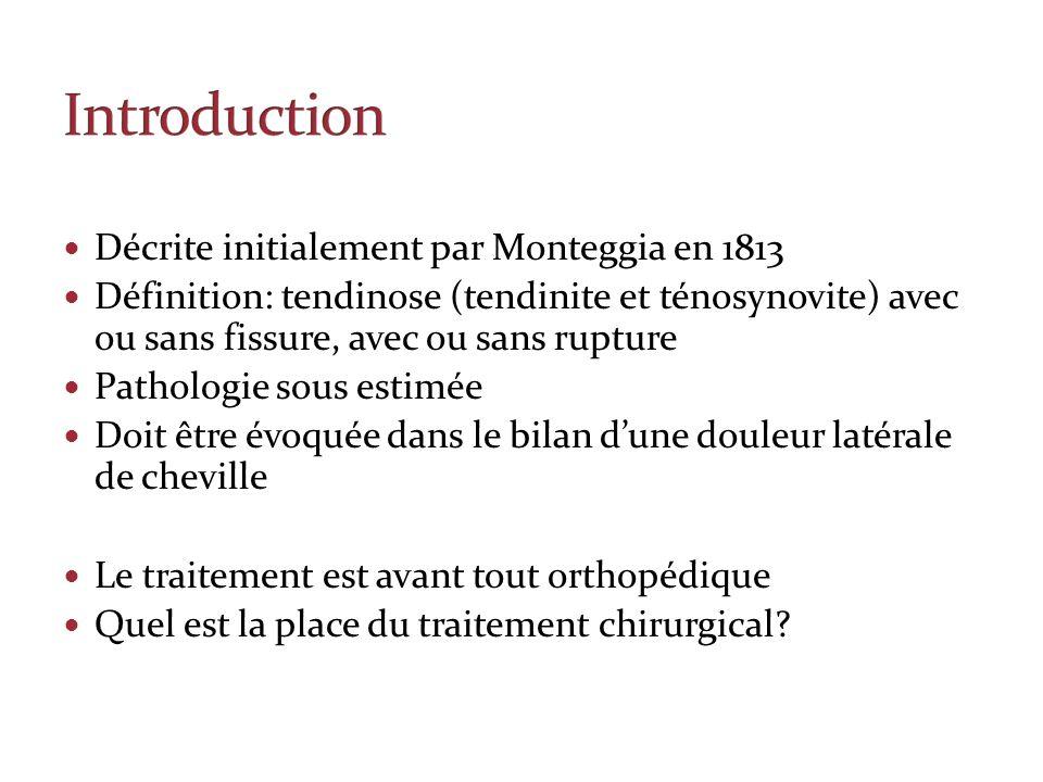 Introduction Décrite initialement par Monteggia en 1813