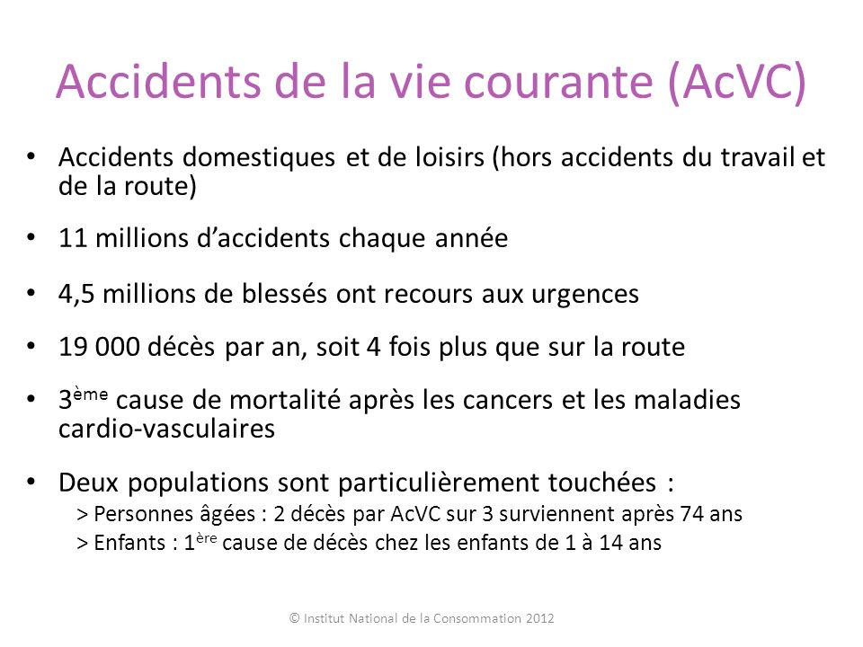 Accidents de la vie courante (AcVC)