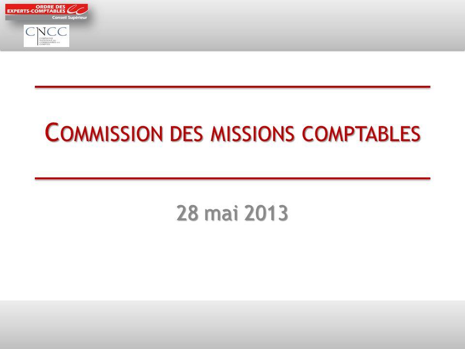Commission des missions comptables