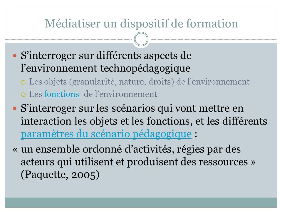 Médiatiser un dispositif de formation