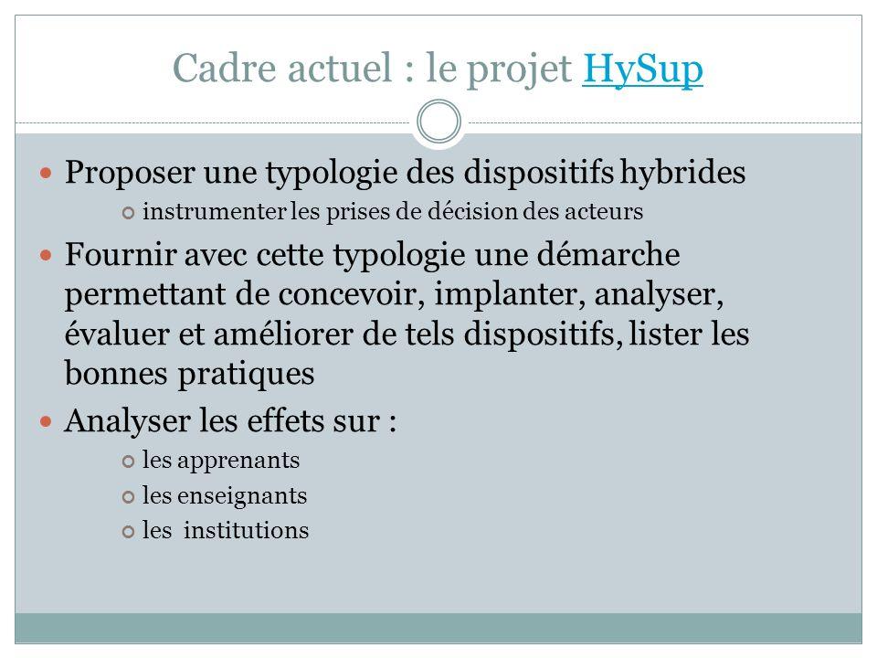 Cadre actuel : le projet HySup