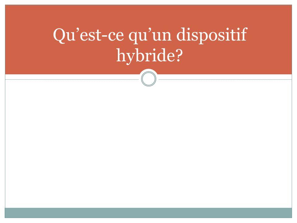 Qu'est-ce qu'un dispositif hybride