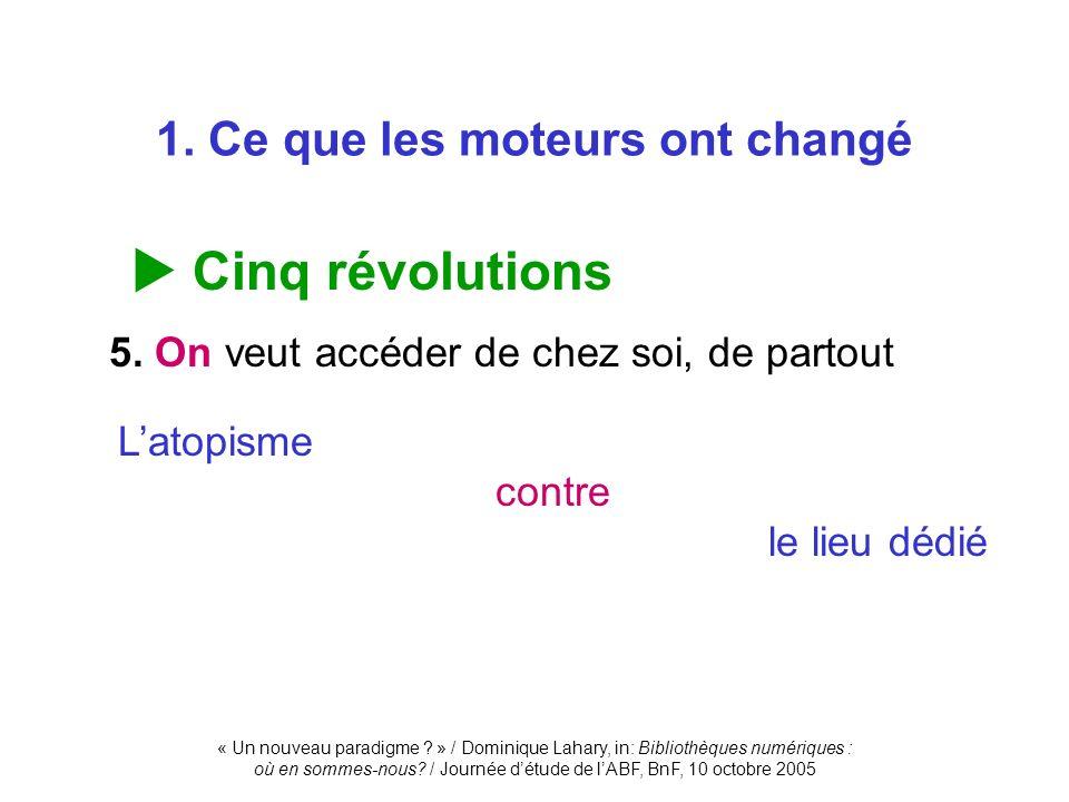 1. Ce que les moteurs ont changé