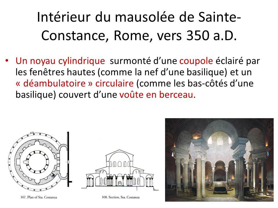 Intérieur du mausolée de Sainte-Constance, Rome, vers 350 a.D.