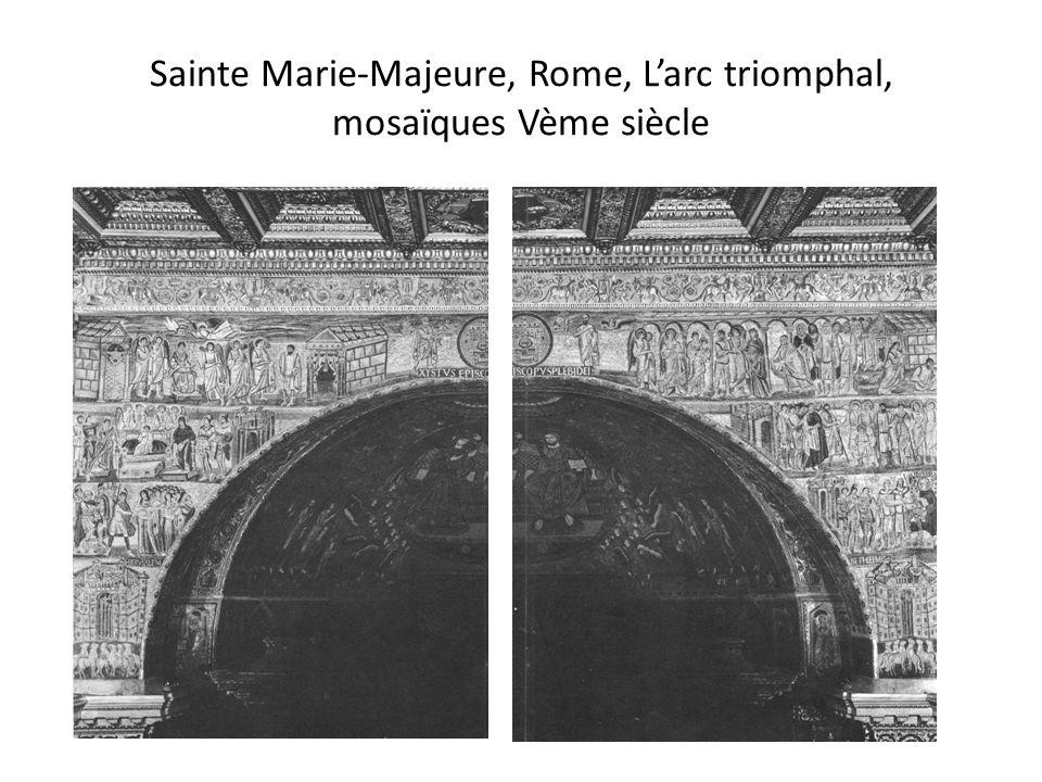 Sainte Marie-Majeure, Rome, L'arc triomphal, mosaïques Vème siècle