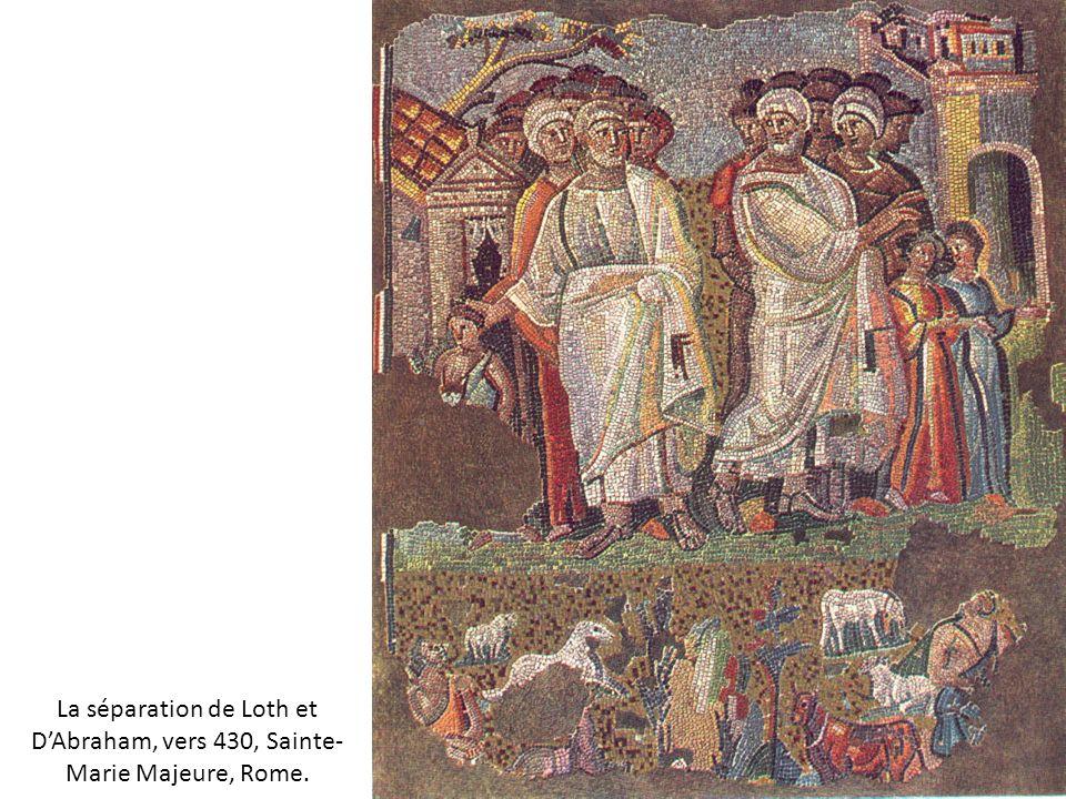 La séparation de Loth et D'Abraham, vers 430, Sainte-Marie Majeure, Rome.