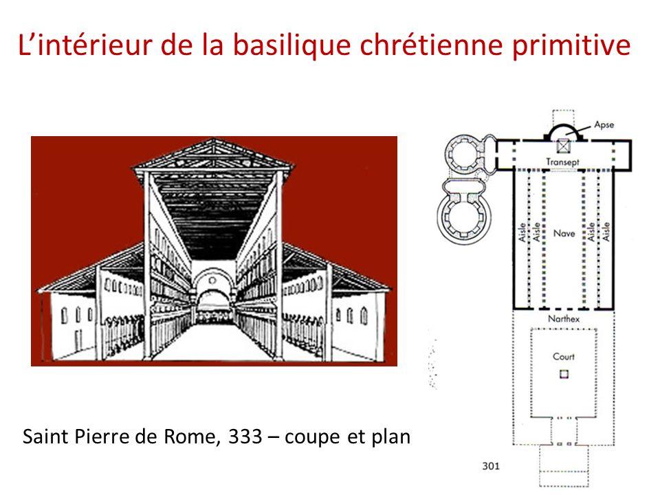 Saint Pierre de Rome, 333 – coupe et plan