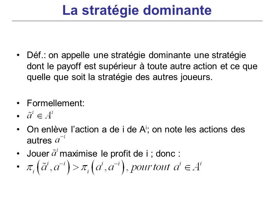 La stratégie dominante