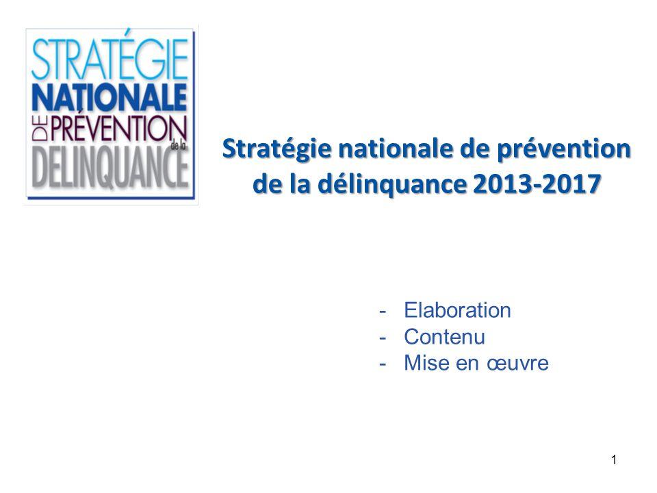 Stratégie nationale de prévention de la délinquance 2013-2017