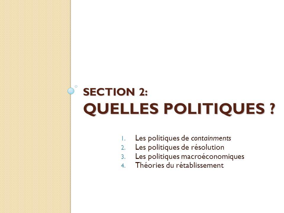 SECTION 2: QUELLES POLITIQUES