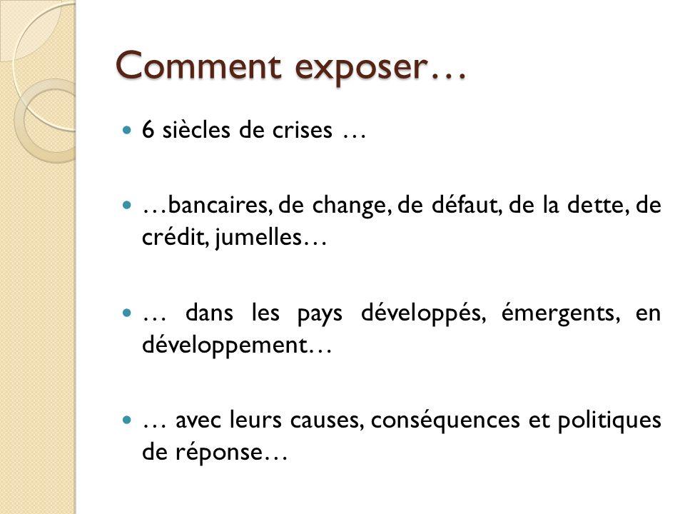Comment exposer… 6 siècles de crises …