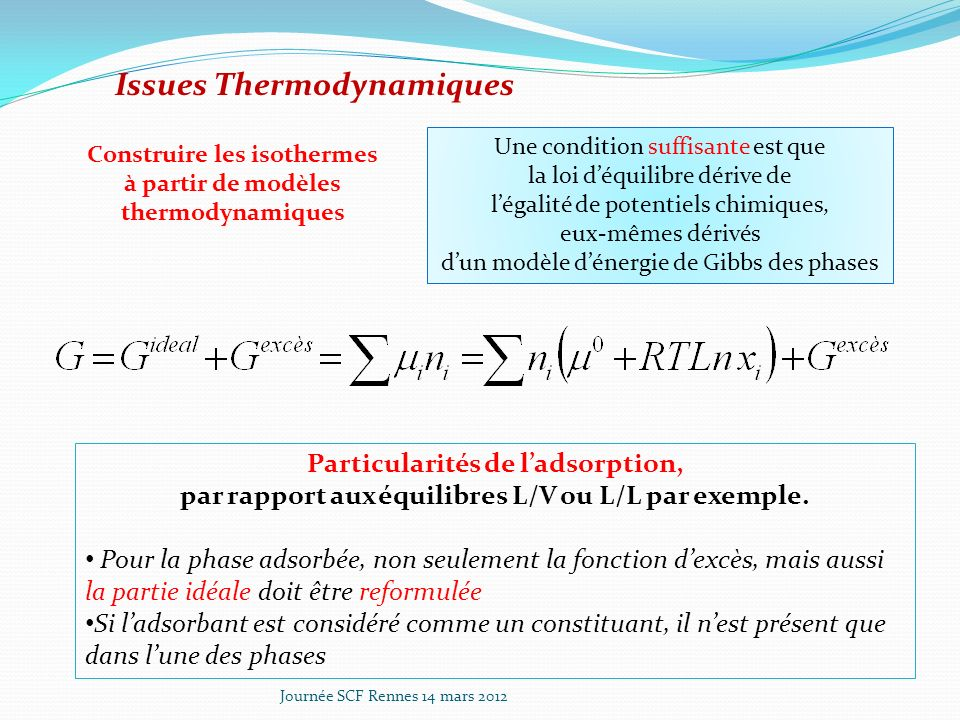 Issues Thermodynamiques