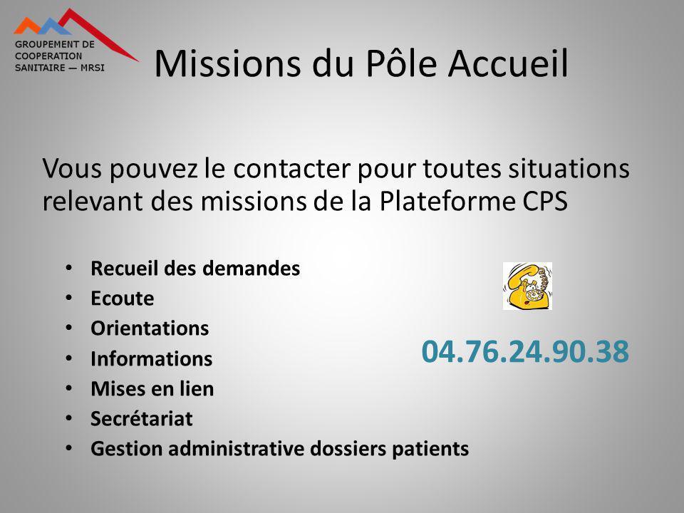 Missions du Pôle Accueil