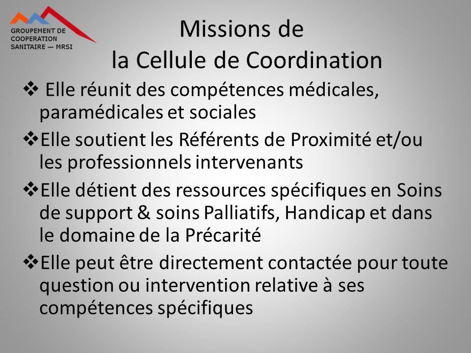 Missions de la Cellule de Coordination