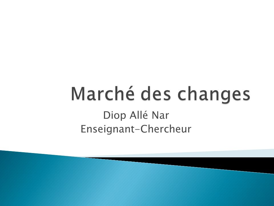Diop Allé Nar Enseignant-Chercheur