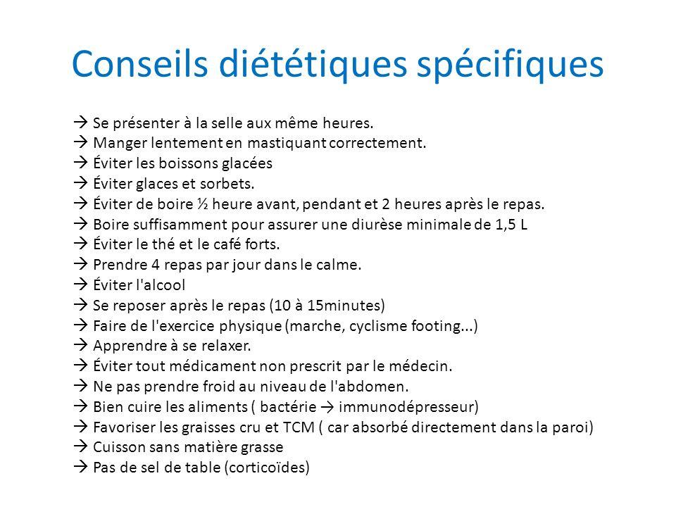 Conseils diététiques spécifiques