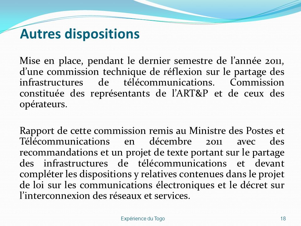 Autres dispositions