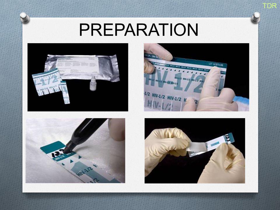 PREPARATION TDR 2005 DESCRIPTION DE LA PREPARATION DU TEST