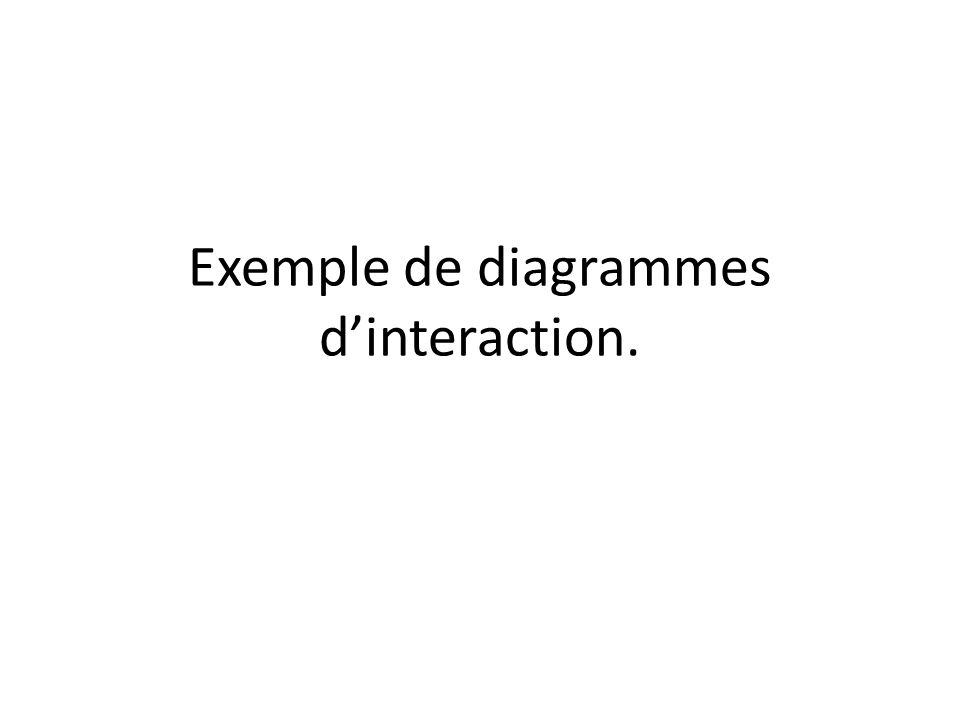 Exemple de diagrammes d'interaction.