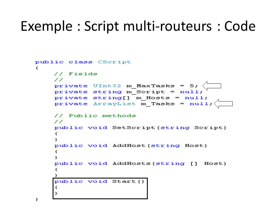 Exemple : Script multi-routeurs : Code