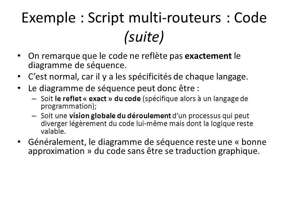 Exemple : Script multi-routeurs : Code (suite)