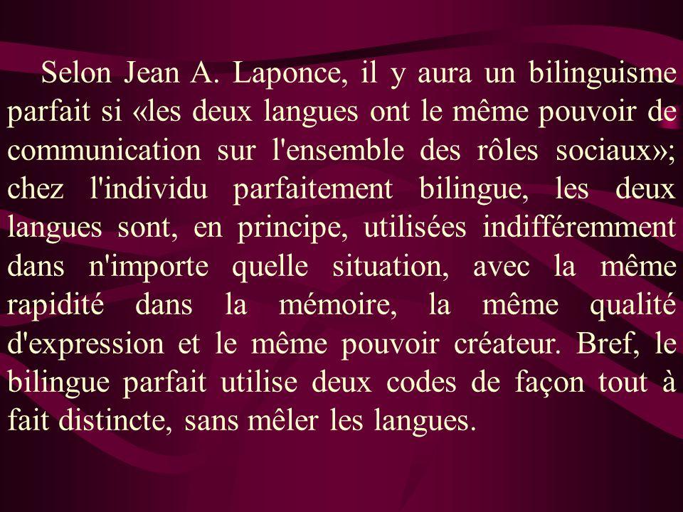 Selon Jean A.