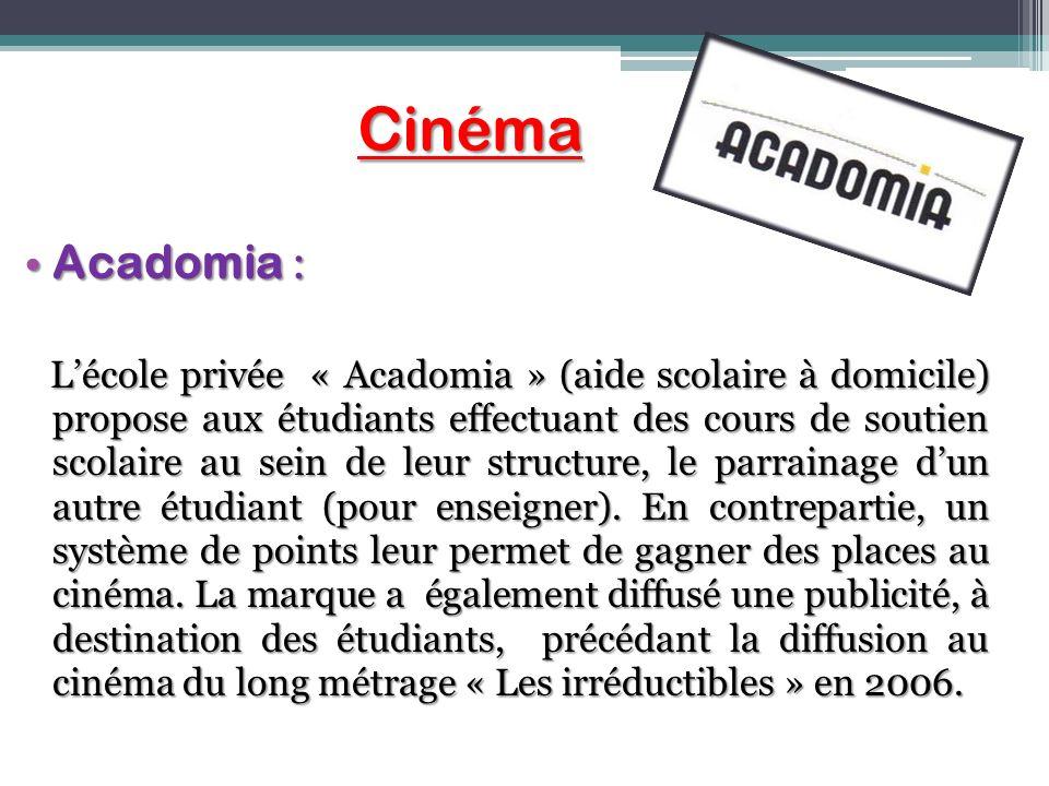 Cinéma Acadomia :