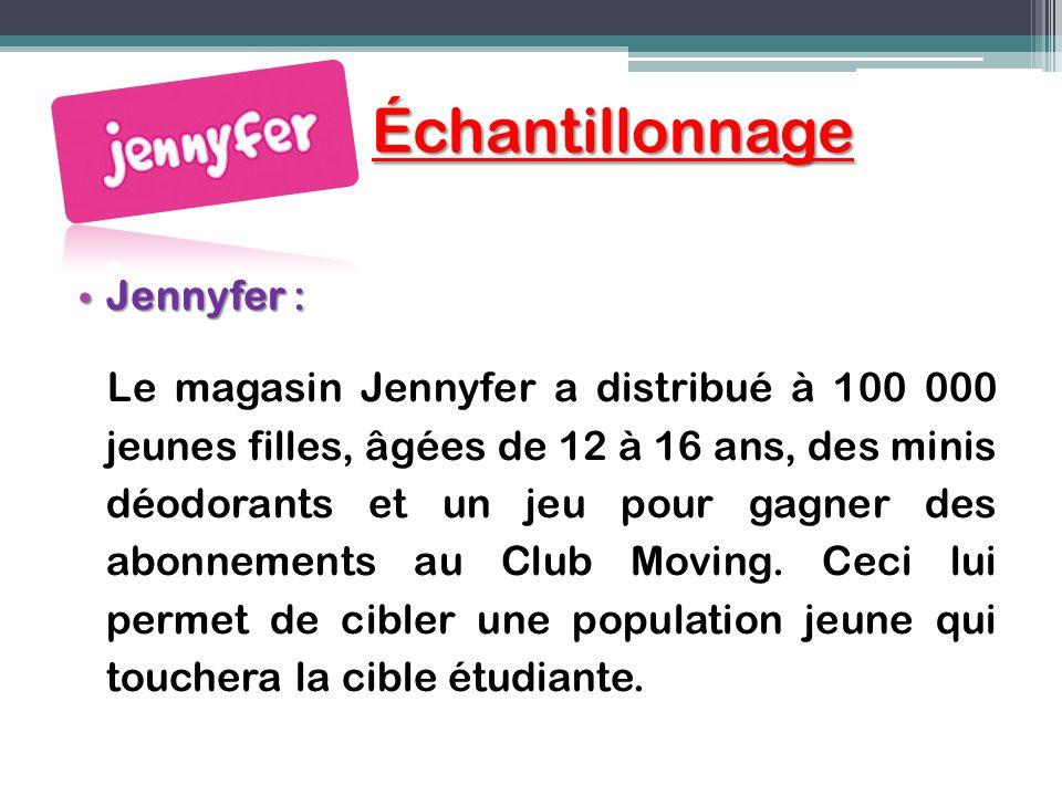 Échantillonnage Jennyfer :