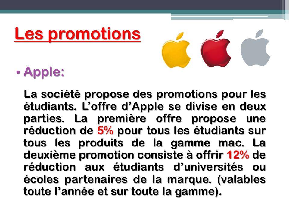 Les promotions Apple: