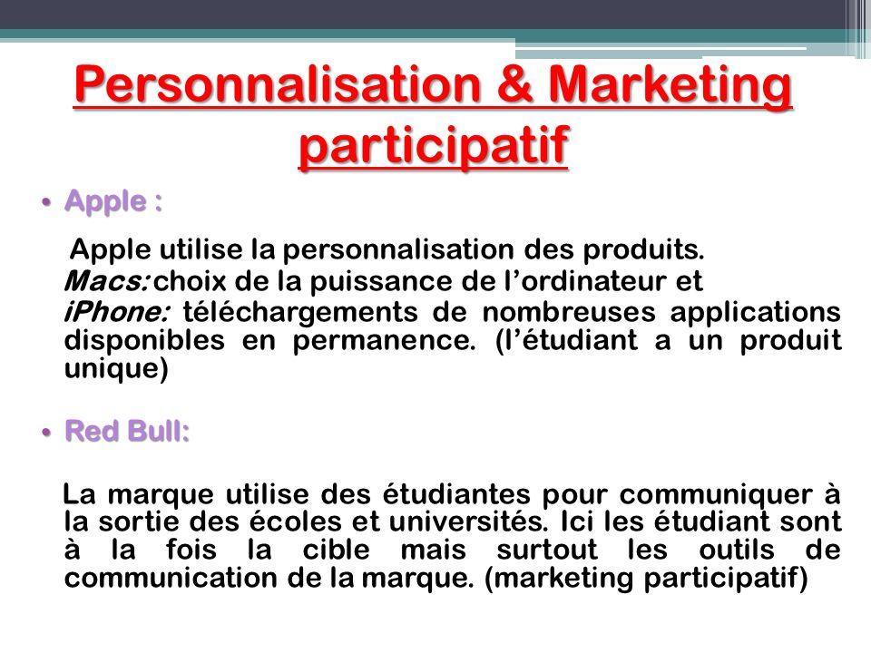 Personnalisation & Marketing participatif