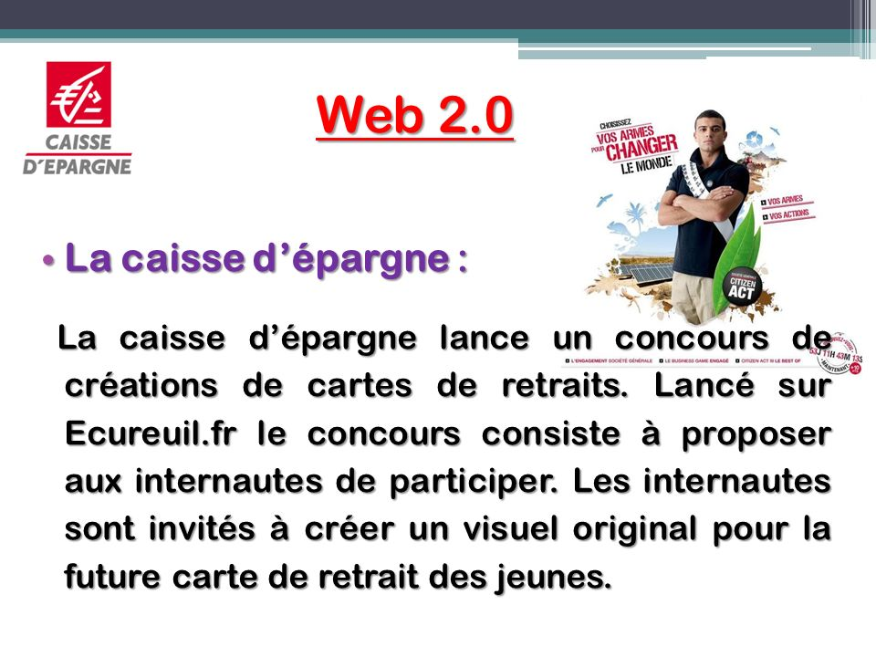 Web 2.0 La caisse d'épargne :