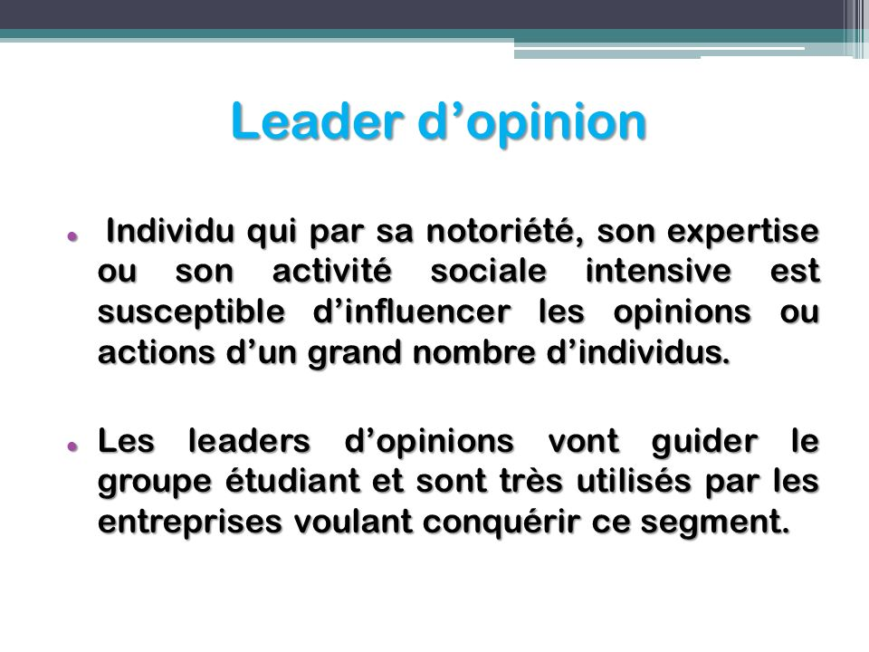 Leader d'opinion