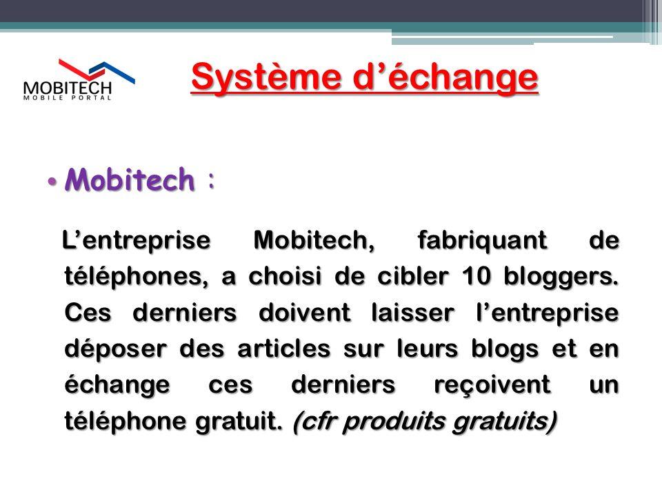 Système d'échange Mobitech :