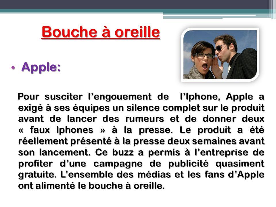 Bouche à oreille Apple: