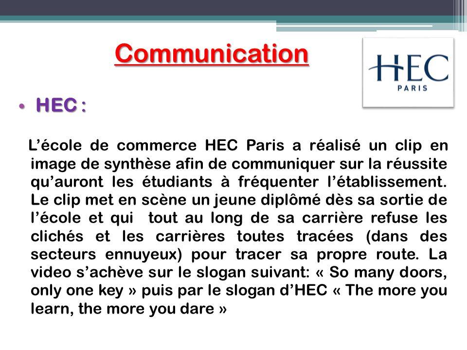 Communication HEC :