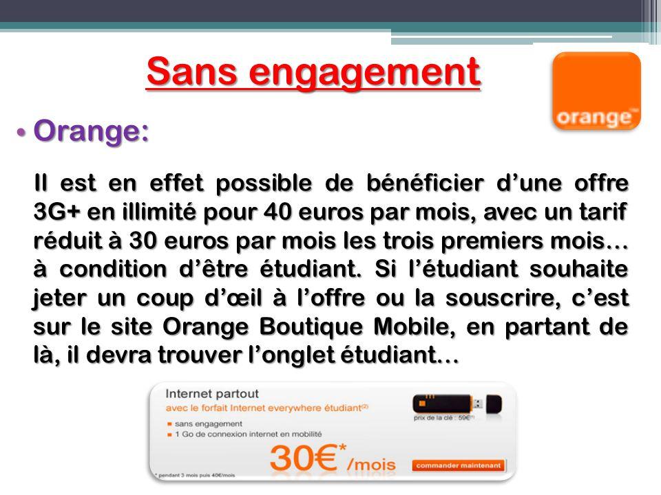 Sans engagement Orange: