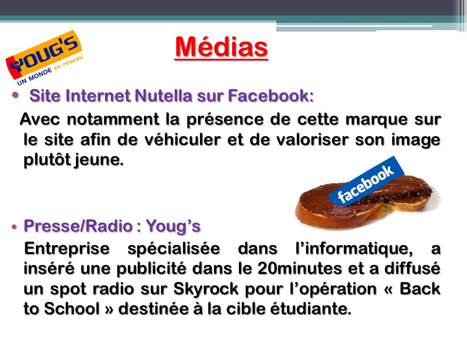 Médias Site Internet Nutella sur Facebook: