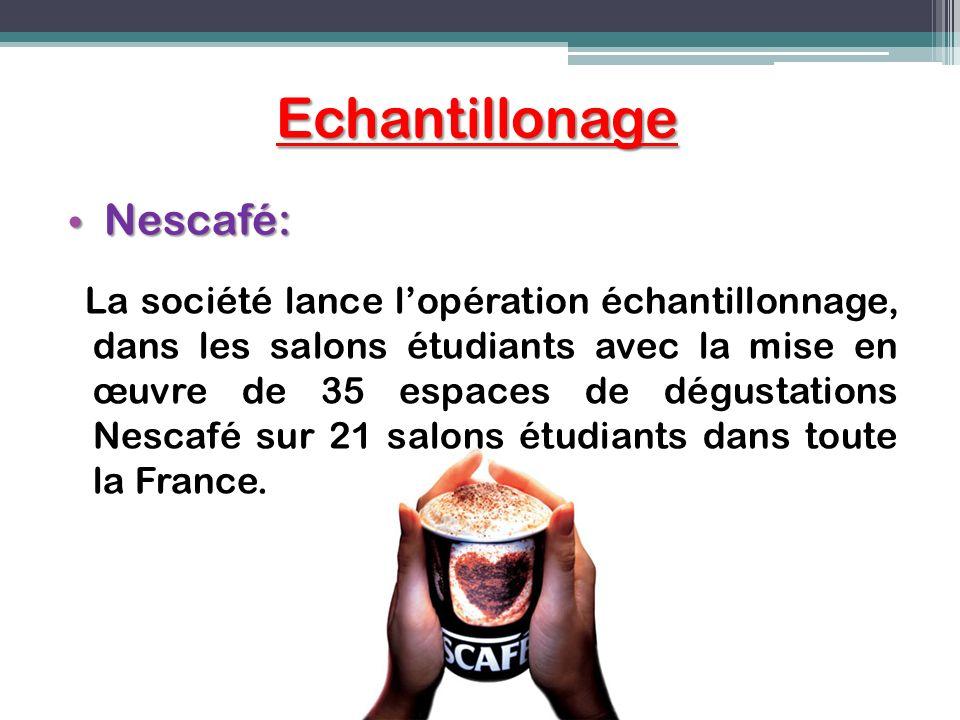 Echantillonage Nescafé:
